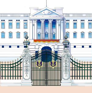 バッキンガム宮殿,ロンドンのイラスト素材 [FYI04831261]