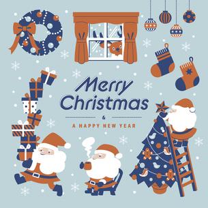 クリスマス ブルーCのイラスト素材 [FYI04831269]