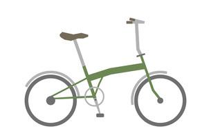 緑色のマウンテンバイクのイラストのイラスト素材 [FYI04831690]