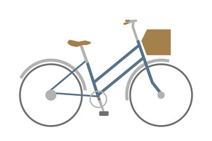 かご付きの自転車のイラスト素材 [FYI04831691]