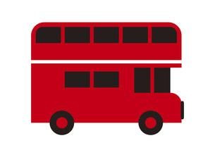 かわいい二階建てバスのイラストのイラスト素材 [FYI04831693]