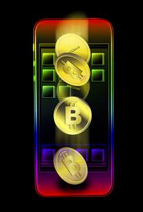 ビットコインのイラスト素材 [FYI04832352]