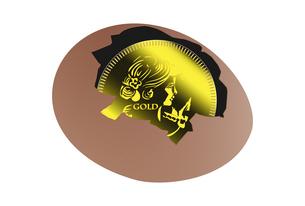 金貨と卵のイラスト素材 [FYI04832355]