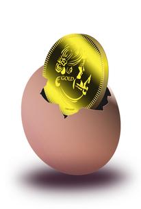 金貨と卵のイラスト素材 [FYI04832357]
