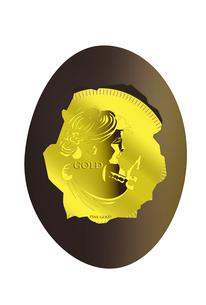 金貨と卵のイラスト素材 [FYI04832358]