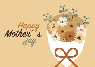 母の日の花束カードのイラスト素材 [FYI04832872]