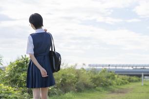 女子高生の後ろ姿の写真素材 [FYI04833104]