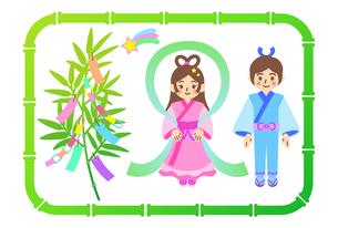 七夕祭りのイラストのイラスト素材 [FYI04833668]