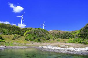 神奈川県 宮川公園の風力発電の写真素材 [FYI04833843]
