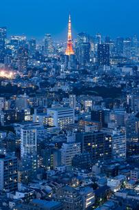 東京の夜景の写真素材 [FYI04834183]