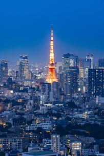 東京の夜景の写真素材 [FYI04834186]