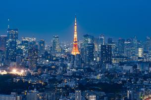 東京の夜景の写真素材 [FYI04834187]