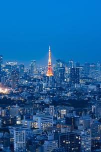 東京の夜景の写真素材 [FYI04834188]