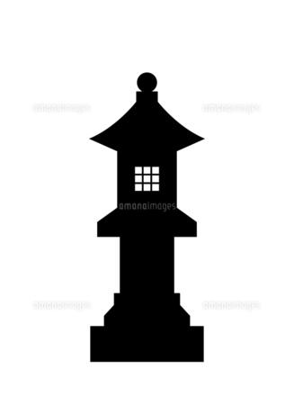 石灯籠のシルエットのイラスト素材 [FYI04835228]