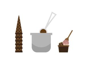 アイスクリーム作りのイラスト素材 [FYI04835230]