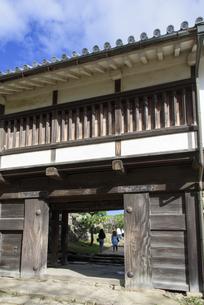 秋の彦根城天秤櫓の写真素材 [FYI04836017]