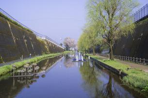 春の高森湧水トンネル公園の写真素材 [FYI04836045]