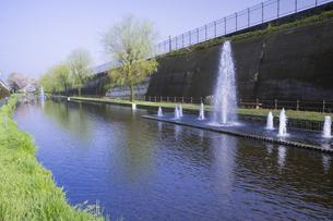 春の高森湧水トンネル公園の写真素材 [FYI04836046]