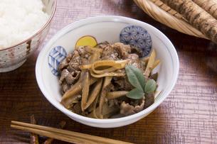 牛肉とごぼうのしぐれ煮の写真素材 [FYI04836131]