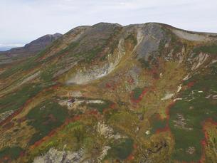 空撮・秋の白雲岳(北海道・大雪山)の写真素材 [FYI04836286]