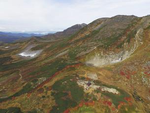 空撮・秋の白雲岳(北海道・大雪山)の写真素材 [FYI04836290]