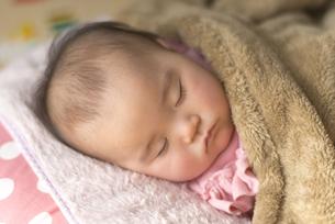 昼寝をする赤ちゃんの写真素材 [FYI04836374]