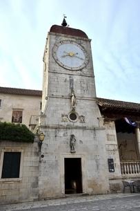 トロギール 時計塔の写真素材 [FYI04836877]
