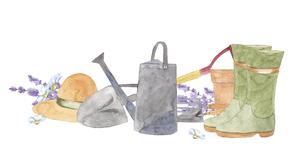 ガーデニング用品の水彩イラストのイラスト素材 [FYI04837139]