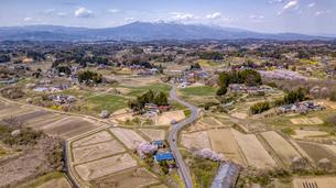 福島県郡山市西田町の航空写真の写真素材 [FYI04837459]