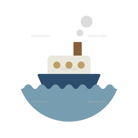 海に浮かぶ船のイラスト素材 [FYI04837653]