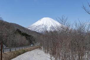 北海道 初春の羊蹄山の風景の写真素材 [FYI04837794]