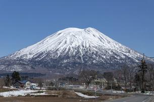 北海道 初春の羊蹄山の風景の写真素材 [FYI04837807]