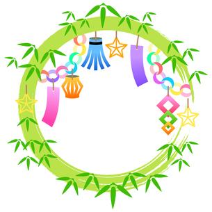 七夕祭りの装飾枠のイラストのイラスト素材 [FYI04837962]
