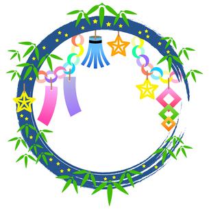 七夕祭りの装飾枠のイラストのイラスト素材 [FYI04837963]