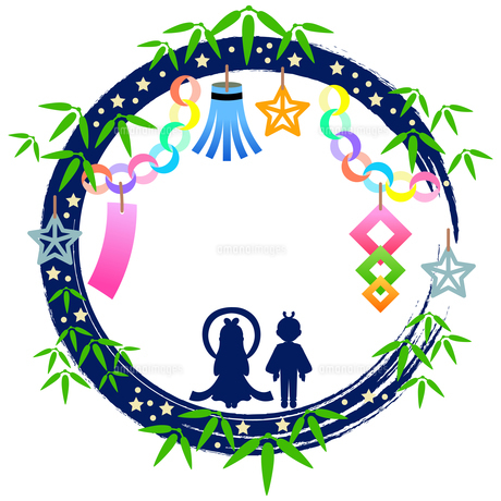 七夕祭りの装飾枠のイラストのイラスト素材 [FYI04837967]