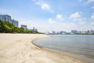 東京・お台場のビーチの写真素材 [FYI04838237]