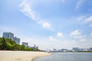 東京・お台場のビーチの写真素材 [FYI04838238]