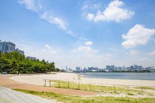 東京・お台場のビーチの写真素材 [FYI04838239]