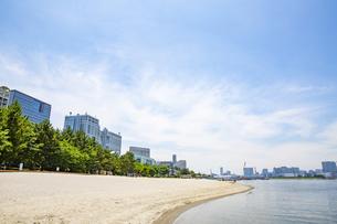 東京・お台場のビーチの写真素材 [FYI04838242]