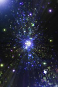 光のパーティクルと放射光のアブストラクト背景のイラスト素材 [FYI04838602]