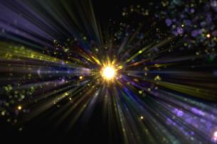 光のパーティクルと放射光のアブストラクト背景のイラスト素材 [FYI04838605]
