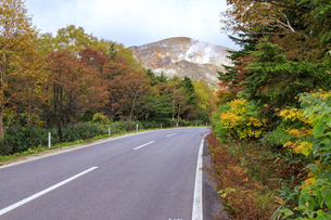 福島県 磐梯吾妻スカイラインより大穴火口を望むの写真素材 [FYI04838877]