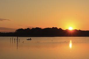 多々良沼の夕景の写真素材 [FYI04839607]