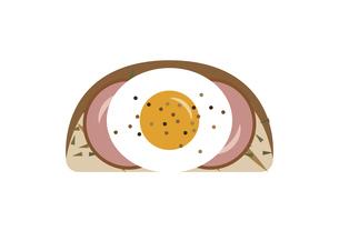 美味しそうなハムエッグトーストのイラスト素材 [FYI04840009]