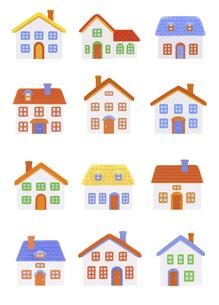 粘土の家12軒の写真素材 [FYI04840514]