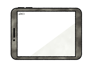 タブレットPC-水彩のイラスト素材 [FYI04841583]