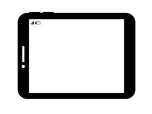 タブレットPC-白黒のイラスト素材 [FYI04841584]