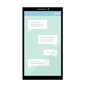 スマートフォン-メッセージのイラスト素材 [FYI04841604]
