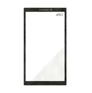 スマートフォン-水彩のイラスト素材 [FYI04841608]