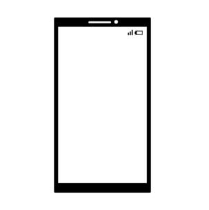 スマートフォン-白黒のイラスト素材 [FYI04841609]